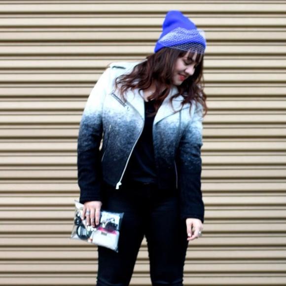 GAP Jackets & Blazers - Gap Ombré Wool Moto Jacket